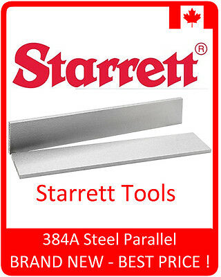 """Starrett 384A Steel Parallel, 6"""" (150mm) Length - BRAND NEW - Free Shipping"""