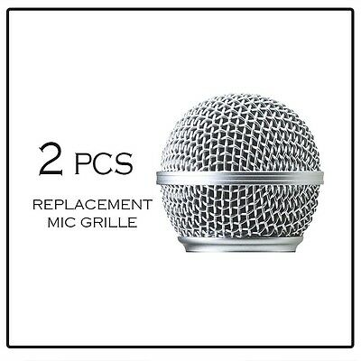 2PCS Replacement Ball Head Mesh Microphone Grille for Shure SM58 BETA58 (New)