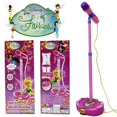 Disney Fairies Tinkerbell Education Musical Microphone Voice Tube Kid Child Toy
