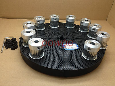 3M Timing Pulley 24Teeth Bore6.35mm 3M Timing Belt W=15mm CNC Laser Engraving