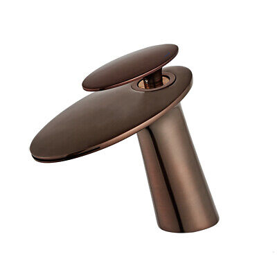 LED Water Flow Bathroom Faucet Lavatory Waterfall Wall Mount Chrome One Handle