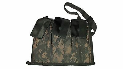 US Army Military Surplus MOLLE II 6 Mag ACU Bandoleer Pouch Various Mfg. XC