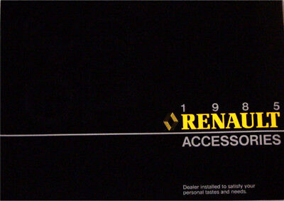 1985 85 Renault  Accessories original sales brochure