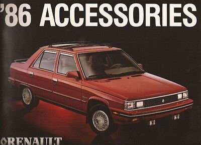 1986 86 Renault  Accessories original sales brochure