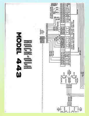 ROCK-OLA 443 JUKEBOX Wiring Diagram / Schematic