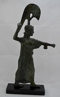 Athena Promachos Bronze Statue - Ancient Greek - Unique piece - Museum Replica