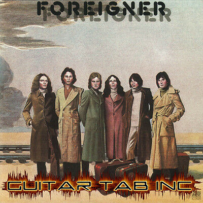 Foreigner Guitar Tab FOREIGNER self titled Lessons on Disc