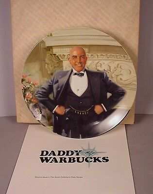Little Orphan Annie Collector Plate ; Daddy Warbucks 1982 MIB new in box
