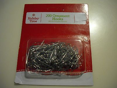 New 200PK Christmas Ornament Hooks Tree Wedding Garden Hangers Color Silver