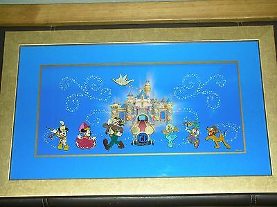 Disney 50th Happiest Homecoming March Framed Pin Set Mickey Mouse Free Shipping