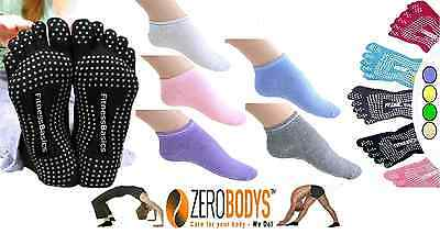 YOGA SOCKS - FIVE TOE/REGULAR  -  Pilates Exercise Non-Slip