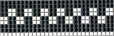 One piece of 300mm x  95mm Feature Mosaic Tile Borders - black & white
