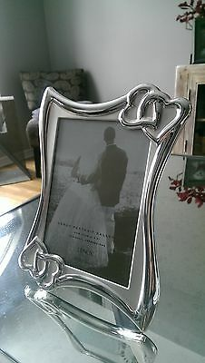 Lenox Wedding Promises Silver Plate Picture Frame Photo 5 X 7 Portrait Gallery