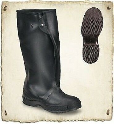 """Lacrosse Pack-Lite 16"""" Overboot Overshoe Rain Boots Black Pvc Rubber Size 9 New"""