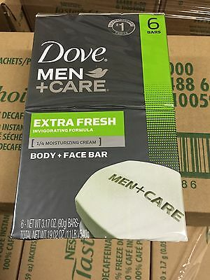 Dove Men+Care Extra Fresh Body and Face Bars - 6 Count