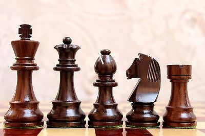 """German Staunton Chess Set in Rosewood and Boxwood - 3.75"""""""