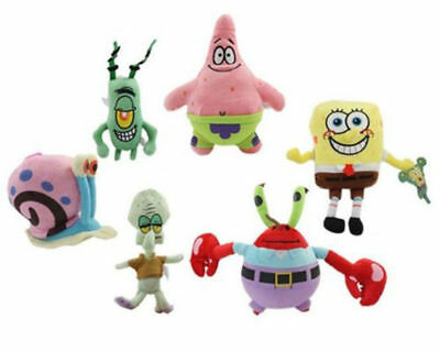 1 Pc Spongebob Squarepants Character Figures Soft Plush Kids Baby Toy Doll Bear