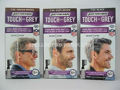 3 x Just For Men Touch Of Grey Hair Colour Dye Triple Pack T35 T45 T55
