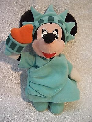 "toys 4250 Walt Disney 8"" Plush Statue of LIBERTY MINNIE MOUSE"