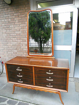 ORIGINAL VINTAGE ITALIAN ART DECO ROSEWOOD CHEST OF DRAWERS FROM 1930-1940