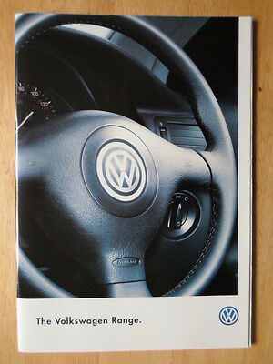 VOLKSWAGEN Range orig 1997 UK Mkt sales brochure - Golf Cabriolet Passat Polo VW