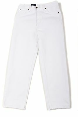 Boy's Eagle Blue Jeans Classic/Straight Leg White Denim Everyday Solid Size 4-7