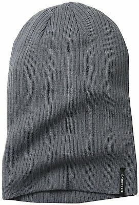 1p CLEARANCE!! Billabong Mens Rock Bottom Oversized Beanie Hat Grey One Size