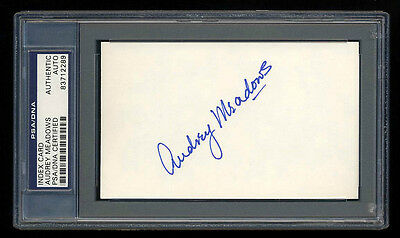 Audrey Meadows Signed Mint Index Card Autographed Psa/dna Slabbed Beautiful!