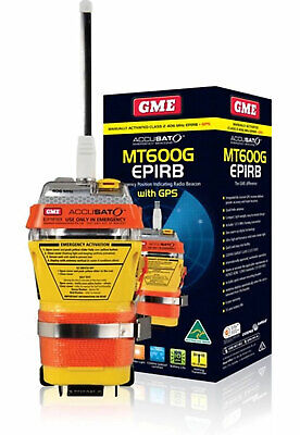 GME MT600G EPIRB ✱ GPS VERSION ✱10yr BATTERY 6yr WARRANTY Latest Battery MT 600G