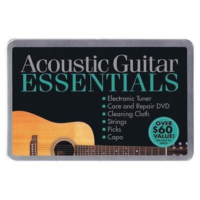Acoustic Guitar Essentials- Metal Carrying Case   NEW