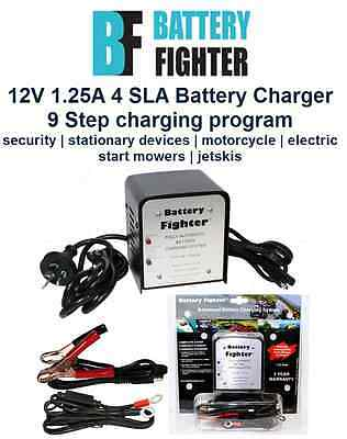 Battery Fighter- BFA012 12V 1.25A Auto 4 Step Stage Lead Acid battery charger