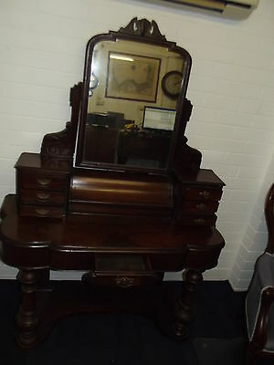 Victorian Antique Duchess Mahogany Walnut Burr Beautiful Condition