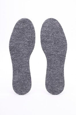 Insoles For Shoes Inserts 100% Felt Size  Uk 4-9