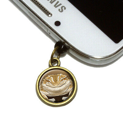 Devious Bearded Dragon Cell Mobile Phone Jack Charm Fits iPhone Galaxy HTC