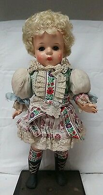 "Vintage 1935 Composition ""Baby Doll in Fancy Dress"" Ideal Horseman Oddity Old"
