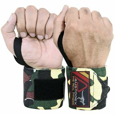 Austodex Wrist Support Wraps Weight Lifting Gloves Bodybuilding Gym Straps Power
