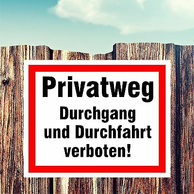 warnschild schild durchfahrt verboten gelb hinweisschild verbotsschild eur 3 88. Black Bedroom Furniture Sets. Home Design Ideas