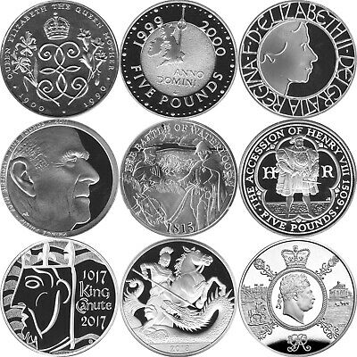 Brilliant Uncirculated British £5 Five Pound Coin Crowns 1990  2016 Choose Dates