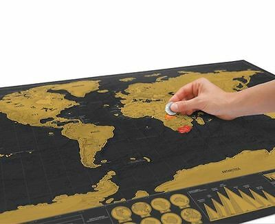 Scratch Map Deluxe World Map Poster Luckies Personal Travel Log Gift