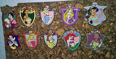 Disney Princess Mystery Collection Trading Pins Complete Set of 10