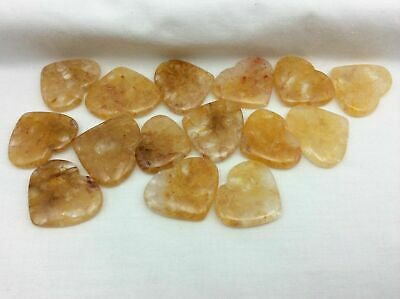 One (1) Himalayan Gold Quartz Heart-03-Stone of the Golden Ray Crystal Healing