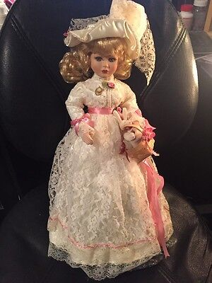 """Connoisseur Collection by Seymour Mann Porcelain Doll 18"""" Nicole southern Bell"""