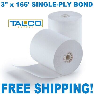 "STAR SP700 3"" x 165' BOND (NON-THERMAL) PoS PAPER - 50 NEW ROLLS *FREE SHIPPING*"