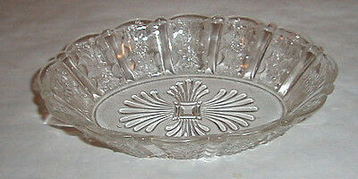 "oval bowl 8 1/4"" Brazil or PANELLED DAISY eapg pattern glass Bryce"