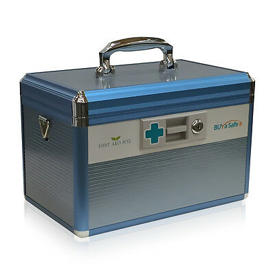Medical Marijuana Storage Box Container with a Key-Lock R8031 First-Aid Box