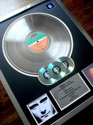 Phil Collins Face Value Lp Multi Platinum Disc Record Award Album