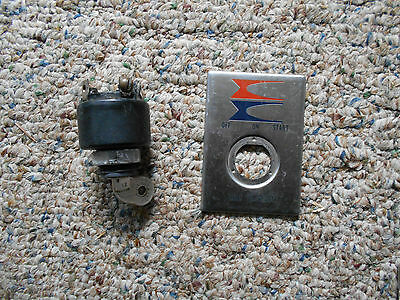 vintage ign switch and face plate,evinrude