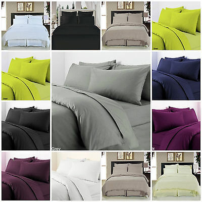 "Extra Deep 16""/40cm Fitted Sheet Egyptian Combed Cotton T-300 Sateen Quality"