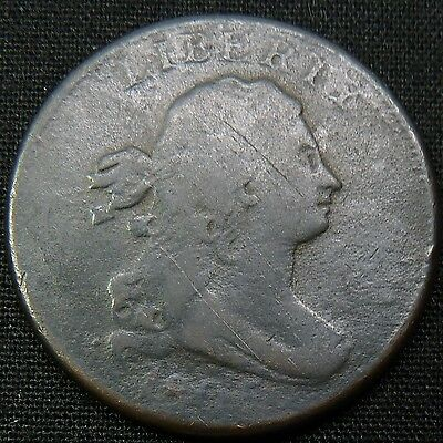 1805 with Stems Half Cent Draped Bust 1c Penny Copper Coin Item #1623