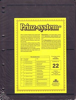 10  Prinz System 2  strip double sided Pages stock sheet